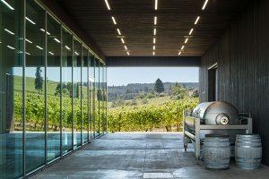 winery breezeway and vineyard