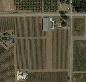 aerial of Juliard Vineyard
